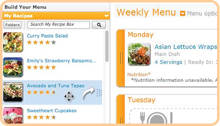 Stay Organized with Menu Planner