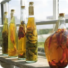 bottles infused vinegar