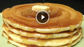 Fluffy Pancakes video breakfast brunch