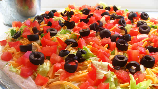 Seven Layer Tex-Mex Dip