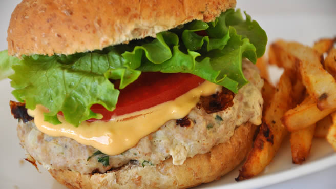 Actually Delicious Turkey Burgers, with Best Burger Sauce