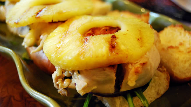 Grilled Pineapple Chicken Sliders