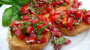Balsamic Bruschetta appetizer Italian quick easy