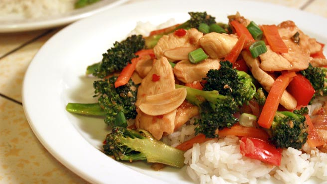 Sweet and Spicy Stir-Fry with Chicken and Broccoli