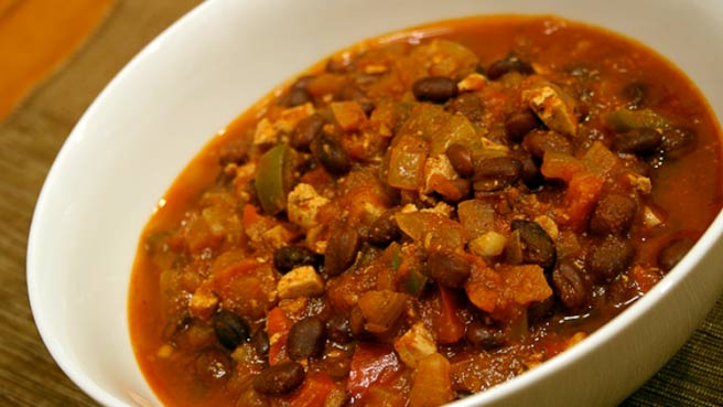 Meatiest Vegetarian Chili From Your Slow Cooker