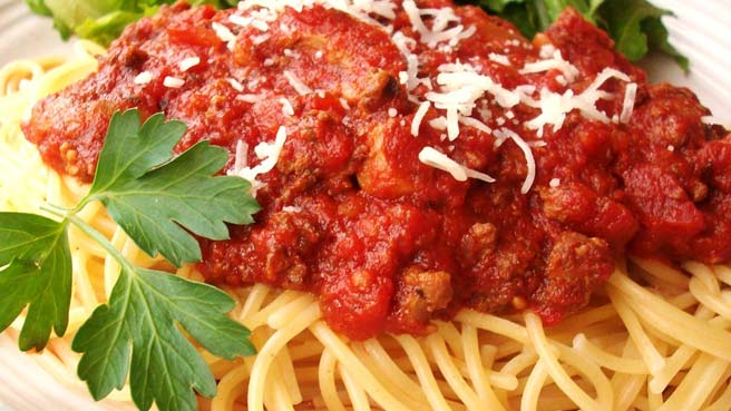 Meat Lover's  Slow Cooker Spaghetti