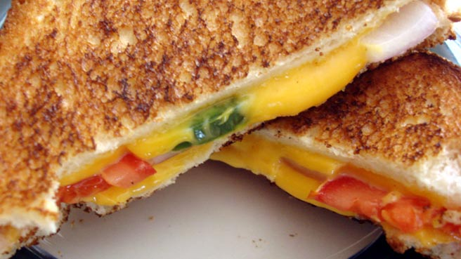 Spicy Grilled Cheese Sandwich