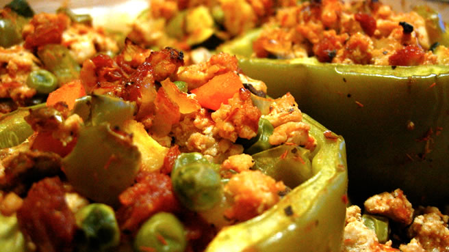 bolognese stuffed bell peppers recipes dishmaps bolognese stuffed bell ...