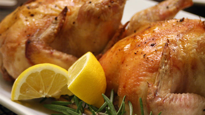 Cornish Game Hens with Rosemary