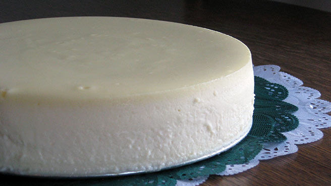 Chantal's New York Cheesecake, made gluten-free