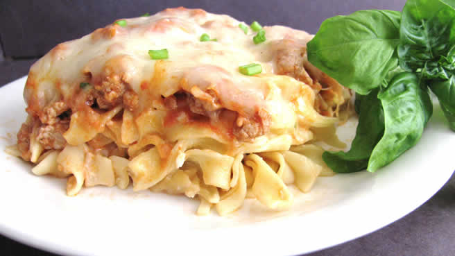 Ground Turkey Noodle Bake