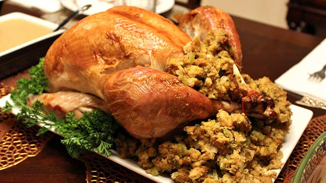 Citrus Turkey Brine, with Gluten-Free Thanksgiving Stuffing
