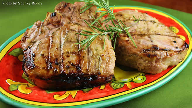 Grilled Lemon-Herb Pork Chops