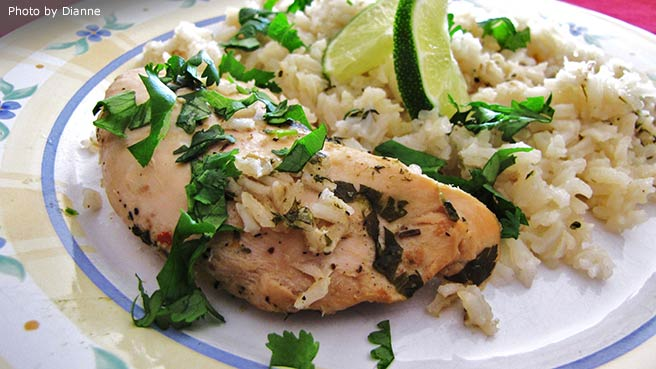Slow Cooker Lime Chicken with Rice