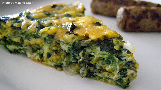 how to make vegetarian quiche without eggs
