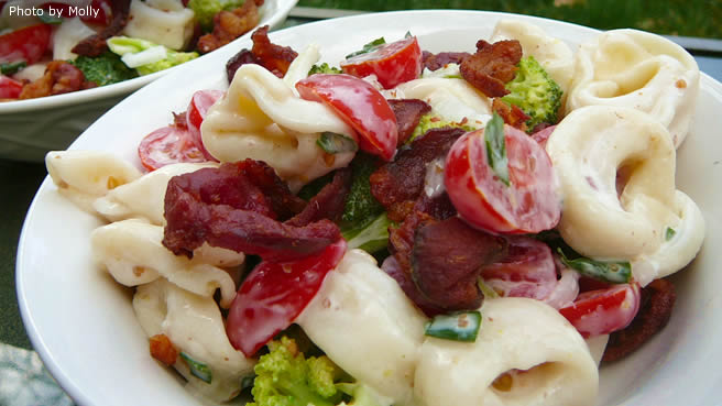 Tortellini Bacon Broccoli Salad
