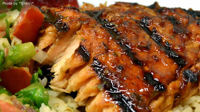 grilled salmon with habanero lime butter grilled salmon with