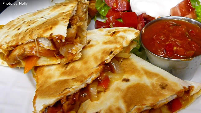 Texas Chicken Quesadillas