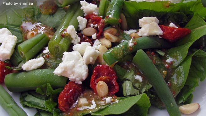 Feta and Slow-Roasted Tomato Salad with French Green Beans