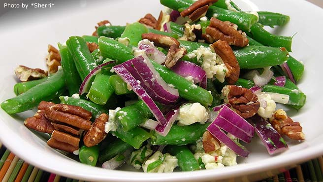 Green Bean Salad with Basil and Parmesan..