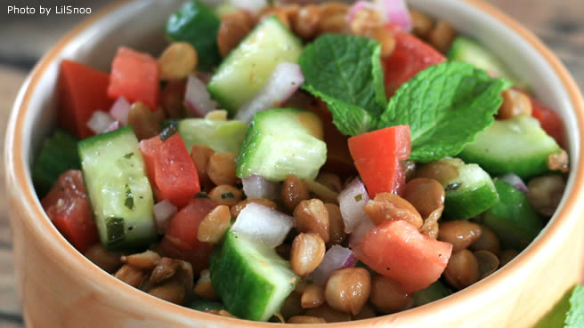 Lentil Salad with a Persian Twist