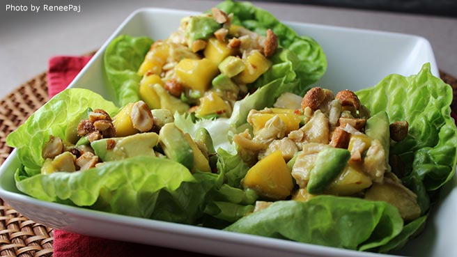 Chicken, Avocado, and Mango Salad