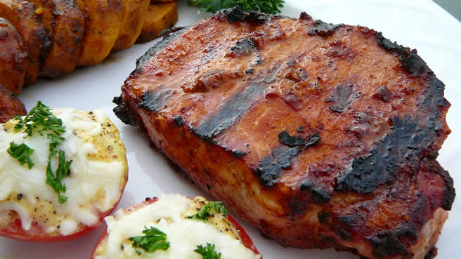 Quick grilled pork chops recipe