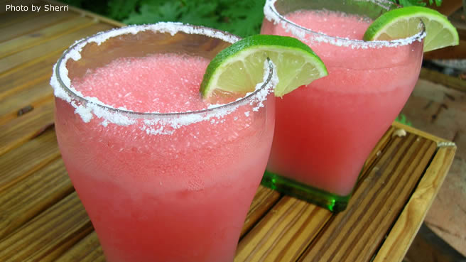 Jewel's Watermelon Margaritas