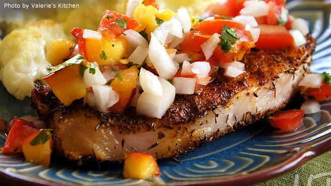 Grilled Pork Chops with Fresh Nectarine Salsa
