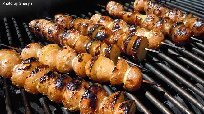 Skewered Grilled Potatoes