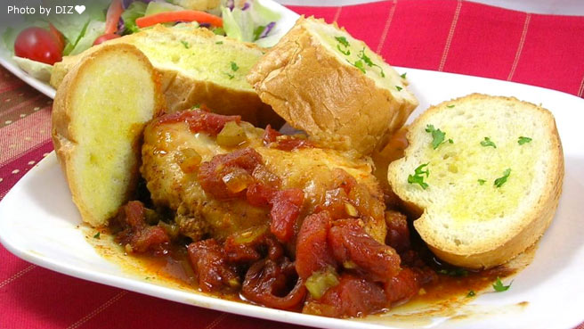Recipes for main dishes of chicken