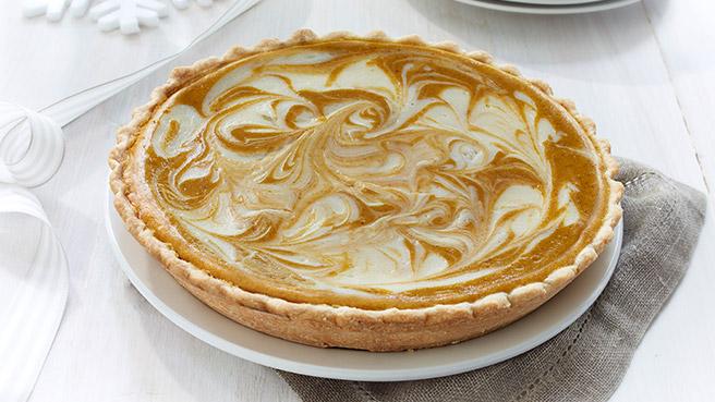 Pumpkin Cheesecake Swirl Pie