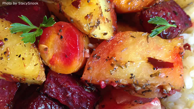 Savory Roasted Root Vegetables