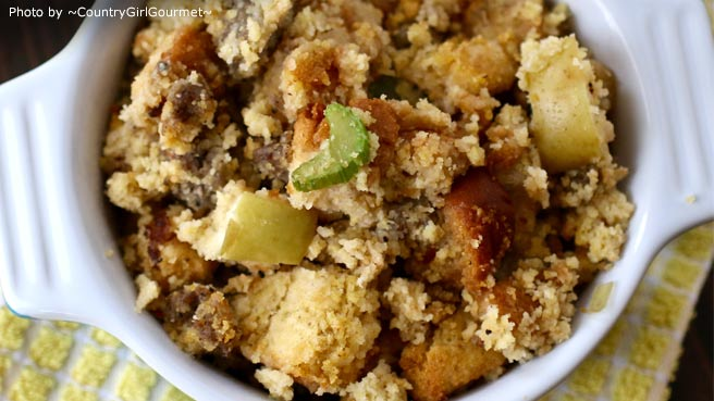 Apple and Sausage Cornbread Stuffing