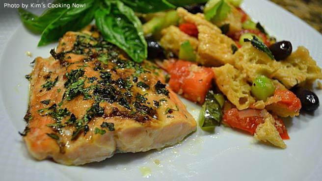 recipe: stephan's broiled salmon pesto [32]