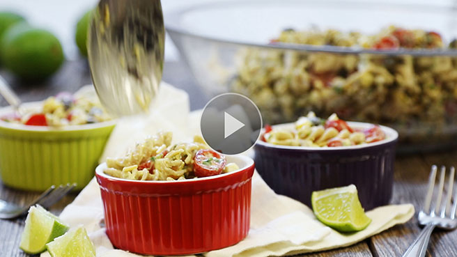 Vegetarian Mexican Pasta Salad