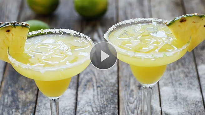 Skinny Pineapple Margaritas