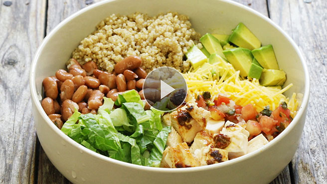 Healthy budget dinner recipes eatingwell make at home burrito bowls forumfinder Gallery