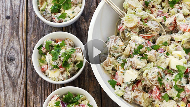 The Best Creamy Potato Salad