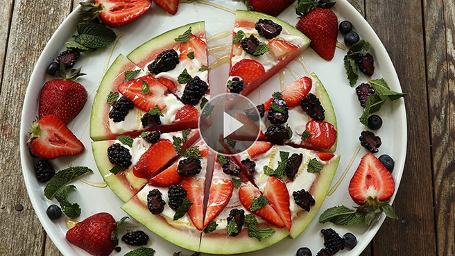 Quick & Healthy Watermelon Fruit Pizza