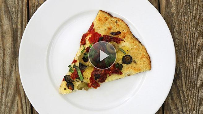 Gluten-Free Mediterranean Pizza