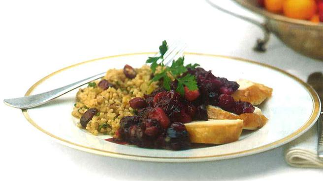 Bulgur Stuffing with Dried Cranberries &