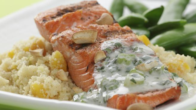 Healthy indian recipes eatingwell cashew salmon with apricot couscous forumfinder Images