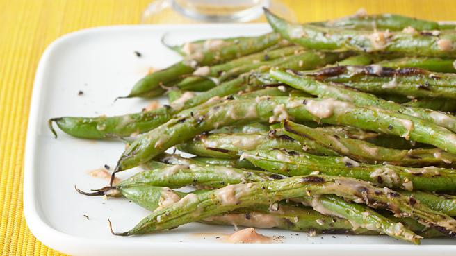 Grilled Green Beans with Horseradish