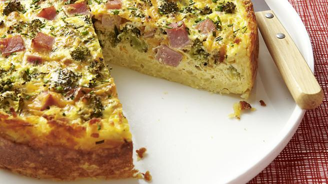 How to Make Hash Brown Crust Quiche