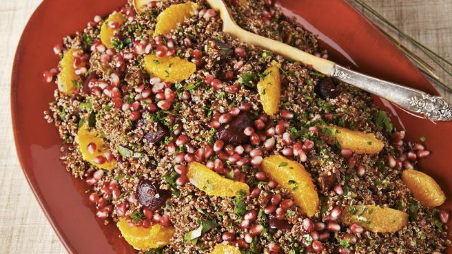 Quinoa Salad with Oranges, Beets & Pom