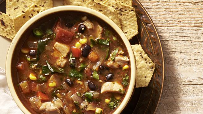Southwestern Vegetable & Chicken Soup