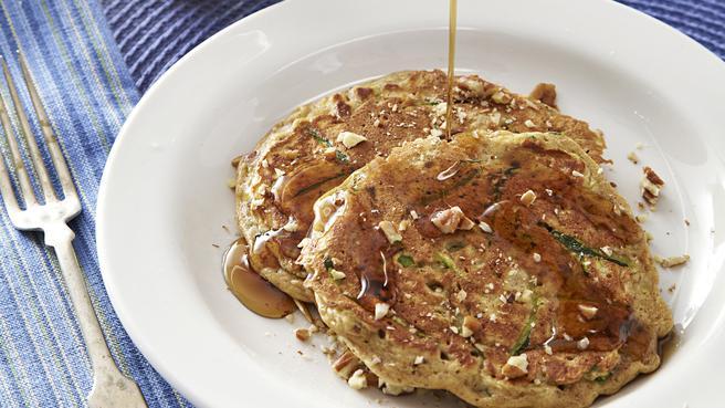 Zucchini Bread Breakfast Pancakes