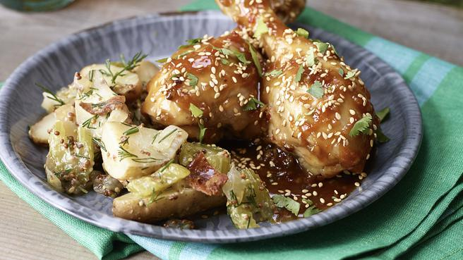 Slow-Cooker Honey Chicken Drumsticks