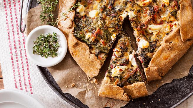 Chard & Herbed Ricotta Galette